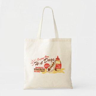 Hot Dog basic tote Budget Tote Bag