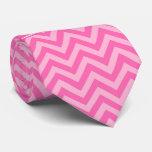 Hot Pink #2 Cotton Candy LG Chevron Name Monogram Tie