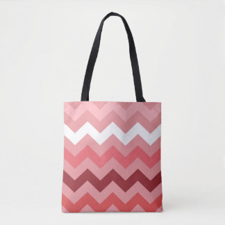 Hot Pink Chevron Tote Bag