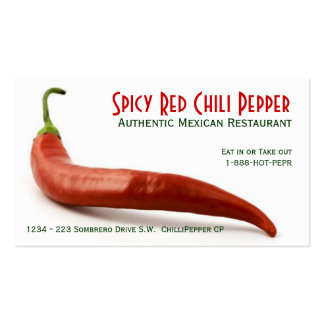 Hot Red Chili Pepper Pack Of Standard Business Cards