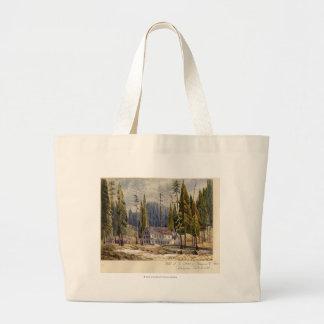 Hotel at the Grove of Mamoth Trees Jumbo Tote Bag