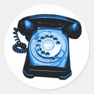 Hotline Blue Round Sticker