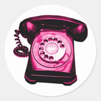 Hotline Crimson Round Sticker