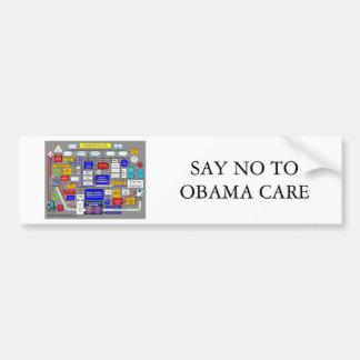 House-Democrats-Health-Plan, SAY NO TO OBAMA CARE Bumper Sticker