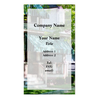 House With Green Striped Awning Pack Of Standard Business Cards