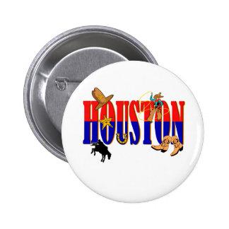 Houston Pics 6 Cm Round Badge