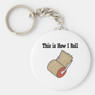 How I Roll Mail Packing Tape Basic Round Button Key Ring