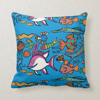 How Many Different Fish Can You See? Cushion