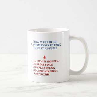 How Many Players to Cast a Spell Basic White Mug