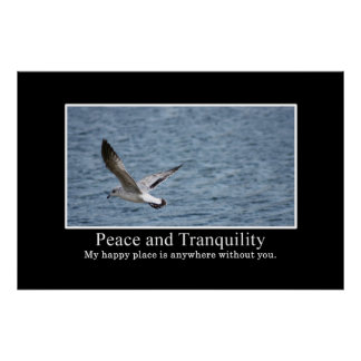 How to find peace and tranquility [XL] Poster