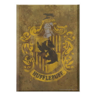 Hufflepuff Crest HPE6 Poster