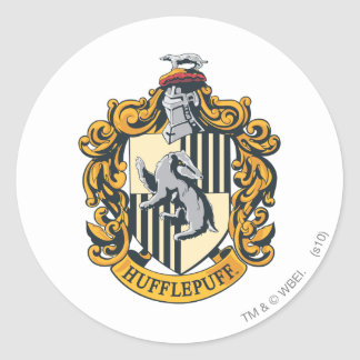 Hufflepuff Crest Round Sticker