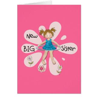 Hula Hoop New Big Sister Greeting Card