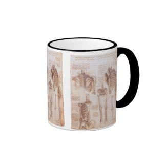 Human Anatomy Skeletons by Leondardo da Vinci Ringer Mug