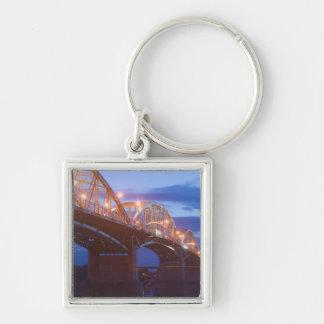 HUNGARY, DANUBE BEND, Estergom: Maria Valeria Silver-Colored Square Key Ring