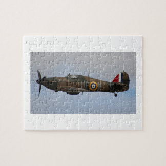 Hurricane Fighter aircraft WWII military plane Jigsaw Puzzles