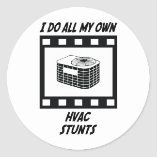 HVAC Stunts Round Sticker