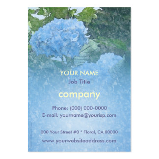 Hydrangeas Blue Profile Card Pack Of Chubby Business Cards