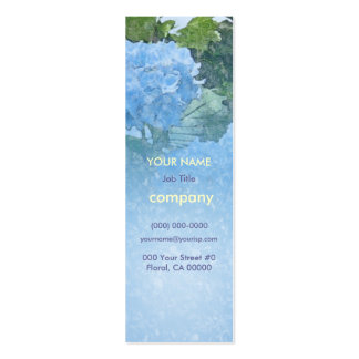 Hydrangeas Blue Profile Card Pack Of Skinny Business Cards