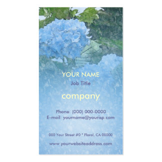 Hydrangeas Blue Profile Card Pack Of Standard Business Cards