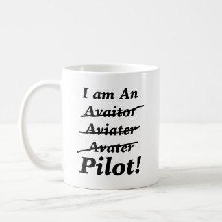 I am a Pilot Basic White Mug