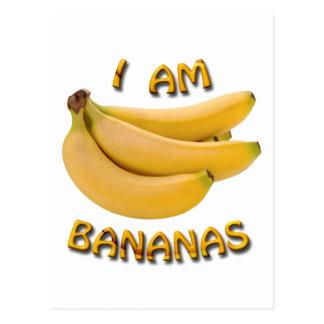I Am Bananas Postcard