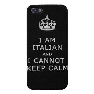 i am italian and i cannot keep calm funny phone cover for iPhone 5/5S