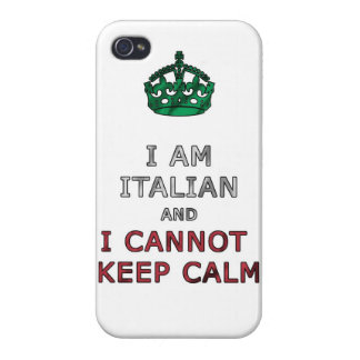 i am italian and i cannot keep calm funny phone iPhone 4/4S case