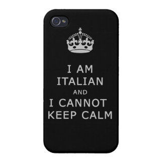 i am italian and i cannot keep calm funny phone iPhone 4 case
