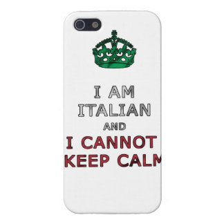 i am italian and i cannot keep calm funny phone iPhone 5 cover