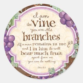 I Am the Vine Scripture Stickers