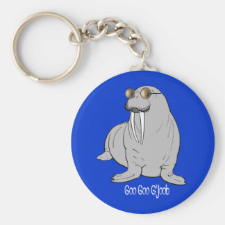 I am the Walrus Basic Round Button Key Ring