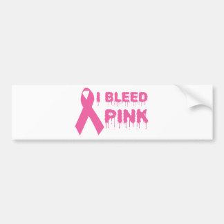 I Bleed Pink - Breast Cancer Awareness Ribbon Bumper Sticker