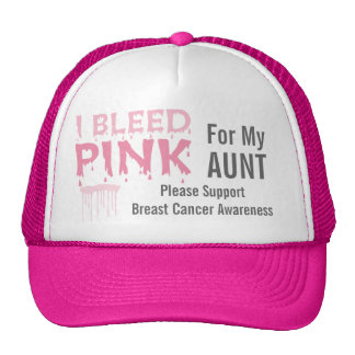 I Bleed Pink For My Aunt Breast Cancer Awareness Cap