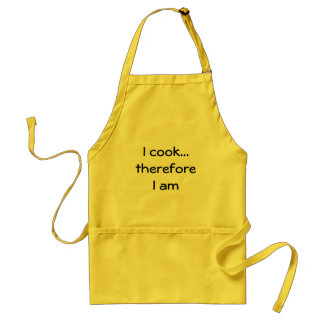 I cook...therefore I am Standard Apron
