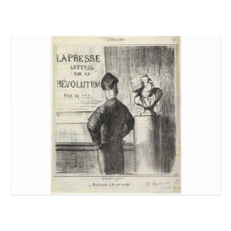 I definitely like him by Honore Daumier Postcard