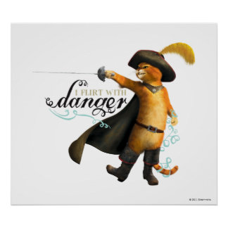 I Flirt With Danger (color) Poster