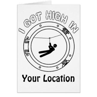 I Got High - Zipline Note Card