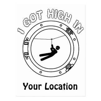 I Got High - Zipline Postcard