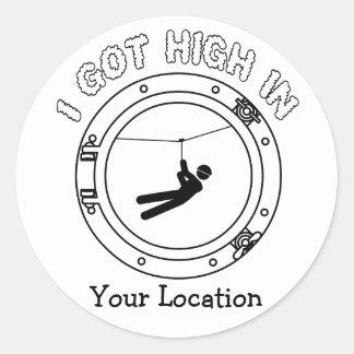 I Got High - Zipline Round Sticker