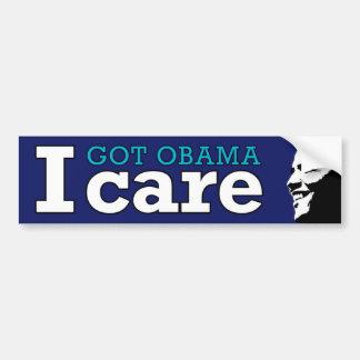 I (Got Obama) Care Bumper Sticker