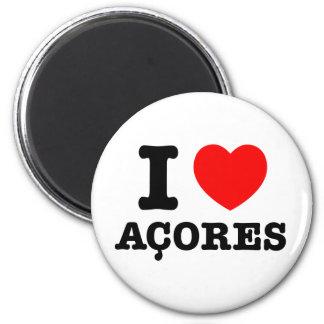 I heart Acores 6 Cm Round Magnet