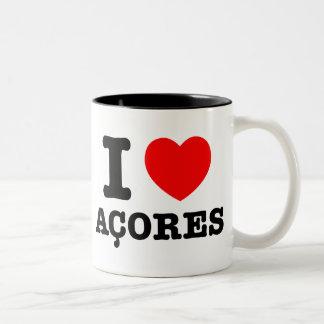 I heart Acores Two-Tone Mug