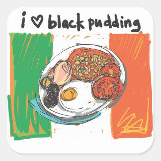 i heart black pudding! square sticker