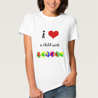 I Heart (Love) a Child with Autism Tshirt