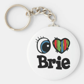 I Heart (Love) Brie Basic Round Button Key Ring