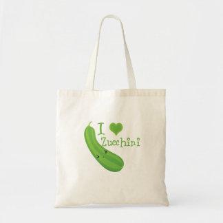 I Heart (love) Zucchini Budget Tote Bag