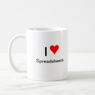 I heart spreadsheets basic white mug