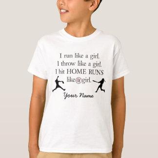 I Hit Like A Girl. Tshirt