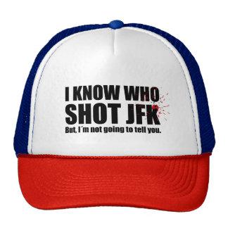 I know who shot John F. Kennedy… Cap
